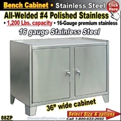 88ZP / Stainless Steel Cabinet Work Stand