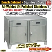 88ZU / Stainless Steel Bench Stands