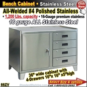 88ZV / Stainless Steel Bench Stands