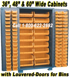 99-DP SECURITY BIN STORAGE CABINETS, WITH UP TO 155-BINS