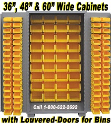 99-DZ SECURITY BIN STORAGE CABINETS, WITH UP TO 182-BINS