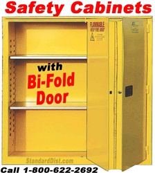BI-FOLD SELF-CLOSE DOOR FLAMMABLE SAFETY CABINETS (99BF)