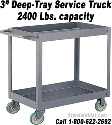 "3"" DEEP SHELF/TRAY SERVICE STOCK CARTS & TRUCKS (99NT) 2400 LB. CAPACITY"