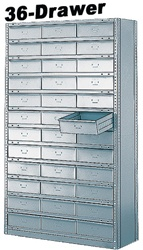 "36 DRAWER STEEL CABINET 75""HIGH"