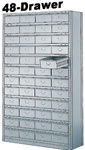"48 DRAWER STEEL CABINET 75""HIGH"