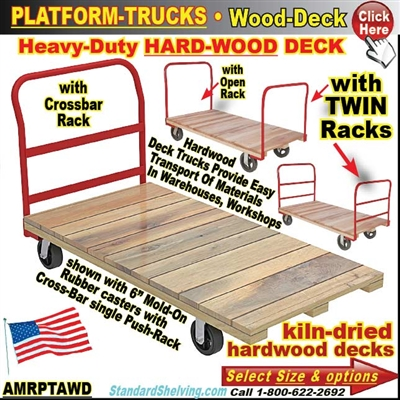 AMRPTAWD / Wood-Deck Platform Trucks