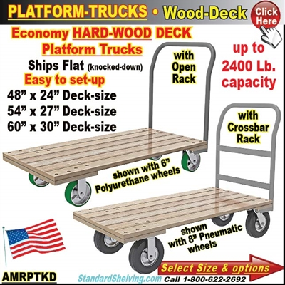 AMRPTKD / Wood-Deck Platform Trucks