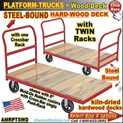 AMRPTSWD / Wood-Deck Steel-Bound Platform Trucks