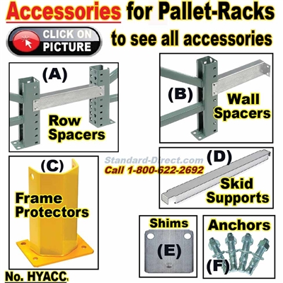 Accessories for Pallet Racks, Quick-Ship / HYACC
