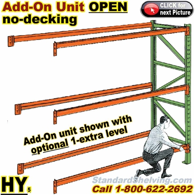 Pallet Rack ADD-ON Unit OPEN (no-decking) / HYAO