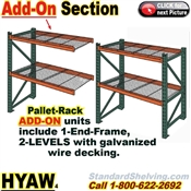 Pallet Rack ADD-ON Unit with Wire-Decking / HYAW