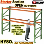 Pallet Racks Starter Unit OPEN (no-decking) / HYSO