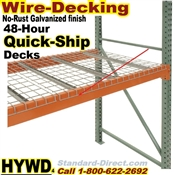 Wire-Decking for Pallet racks, Quick-Ship / HYWD