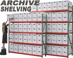 EXTRA HEAVY DUTY ARCHIVE RECORD STORAGE SHELVING (J2AS)