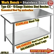 JBFBLG / Stainless Steel Work Benches