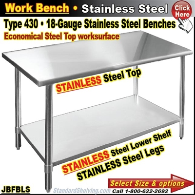 JBFBLS / Stainless Steel Work Benches