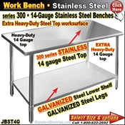 JBST4G / Stainless Steel Work Benches