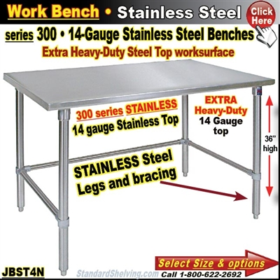 JBST4N / Stainless Steel Work Benches