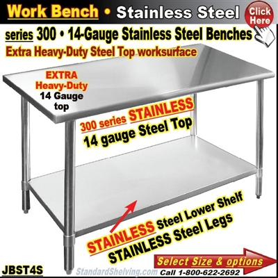 JBST4S / Stainless Steel Work Benches