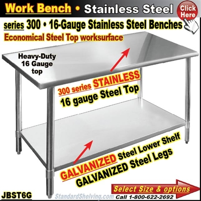 JBST6G / Stainless Steel Work Benches
