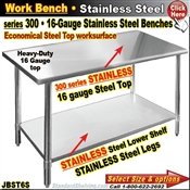 JBST6S / Stainless Steel Work Benches