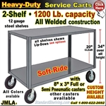 JMLA / Heavy Duty 2-Shelf Service Cart