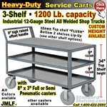 JMLF / Heavy Duty 3-Shelf Service Cart