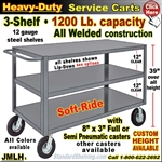 JMLH / Heavy Duty 3-Shelf Service Cart