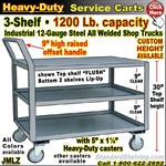 JMLZ / Heavy Duty 3-Shelf Service Cart