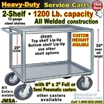 JMSA / Heavy Duty 2-Shelf Service Cart