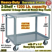 JMSB / Heavy Duty 2-Shelf Service Cart