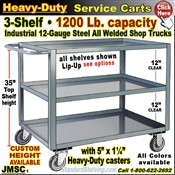 JMSC / Extra Heavy Duty 3-Shelf Service Cart