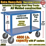 JMSD / Extra Heavy Duty 2-Shelf Service Cart