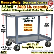 JMSE / Extra Heavy Duty 2-Shelf Service Cart