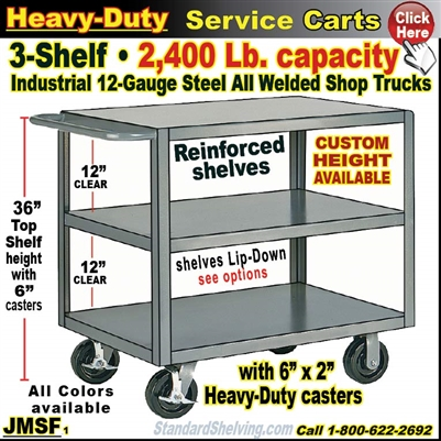 JMSF / Heavy Duty 3-Shelf Service Cart