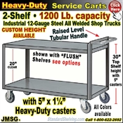 JMSG / Heavy Duty 2-Shelf Service Cart
