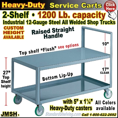 JMSH / Heavy Duty 2-Shelf Service Cart