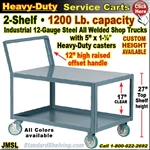 JMSL / Heavy Duty 2-Shelf Service Cart