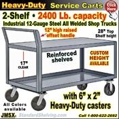 JMSX / EXTRA Heavy Duty 2-Shelf Service Cart