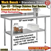 NNWBB / Stainless Steel Work Benches