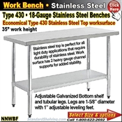 NNWBF / Stainless Steel Work Benches