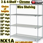 Industrial Chrome Wire Shelving / NX1A