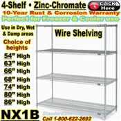 Zinc-Chromate Wire Shelving / NX1B