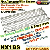 Zinc-Chromate Wire Shelves / NX1BS