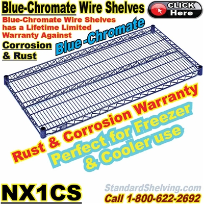 Blue-Chromate Wire Shelves / NX1CS