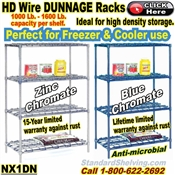 DUNNAGE 4-Shelf Wire Shelving / NX1DN