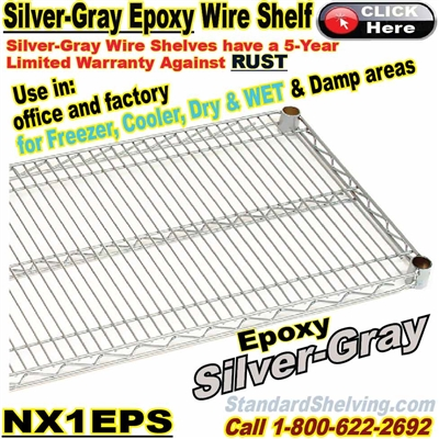 Silver Epoxy Wire Shelves / NX1EPS