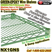 Green-Epoxy-Chromate Wire Shelves / NX1GNS