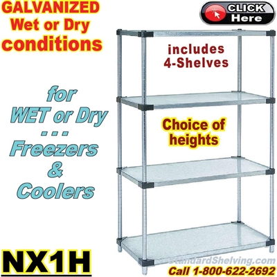 Galvanized Solid Steel Shelving / NX1H