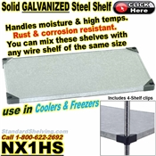 Galvanized Solid Shelves / NX1HS